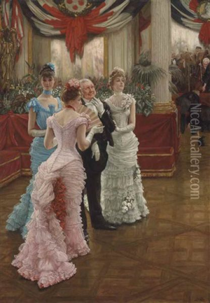 Les Demoiselles De Province Oil Painting - James Jacques Joseph Tissot