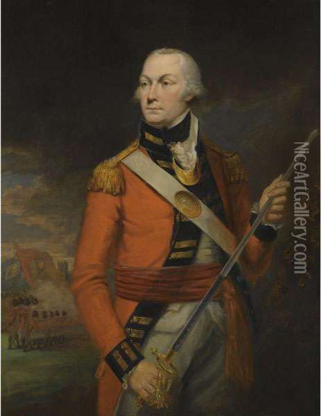 Portrait Of An Officer Oil Painting - Mather Brown