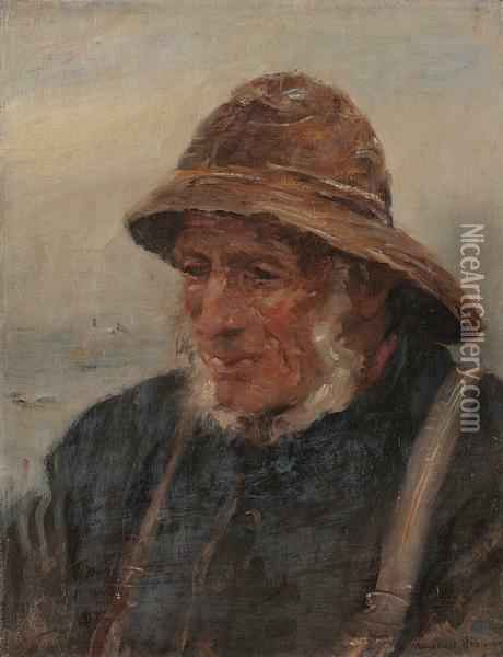 The Fisherman Oil Painting - William Mason Brown
