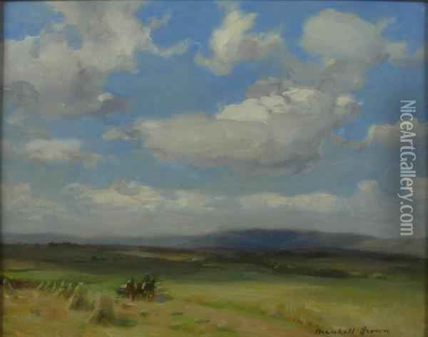Through The Fields Oil Painting - William Mason Brown