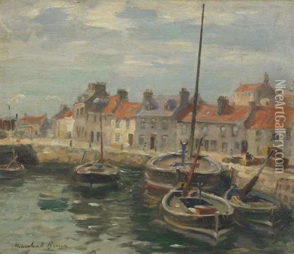 Eyemouth Harbour Oil Painting - William Mason Brown