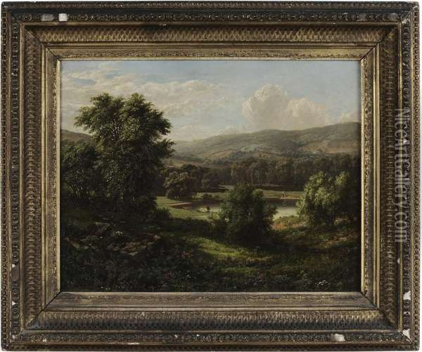 Pastoral Landscape Oil Painting - William Mason Brown