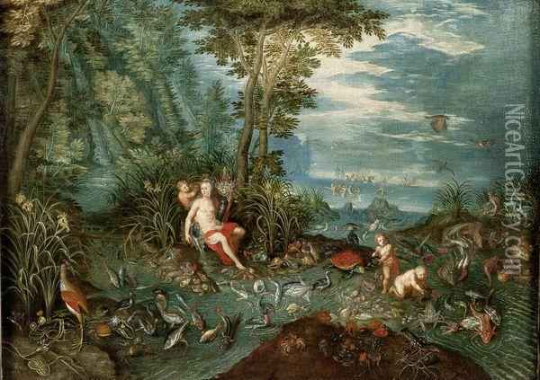 Allegorie De L'eau Oil Painting - Jan The Elder Brueghel