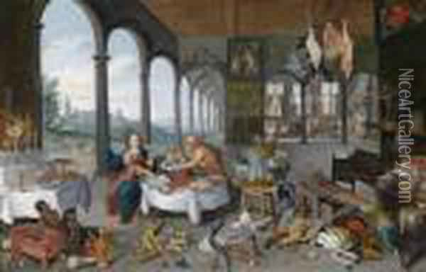 An Allegory Of Taste Oil Painting - Jan Brueghel the Younger