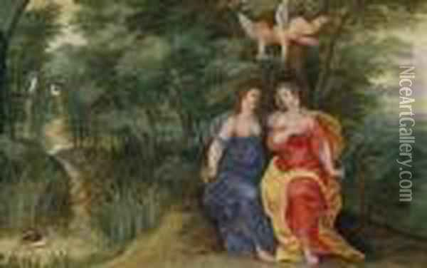 An Allegory Of Justice And Peace Oil Painting - Jan Brueghel the Younger