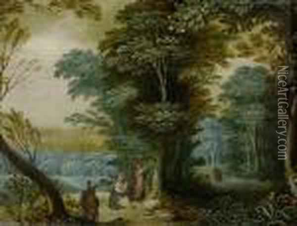 Rest On The Flight Into Egypt. Oil Painting - Jan Brueghel the Younger