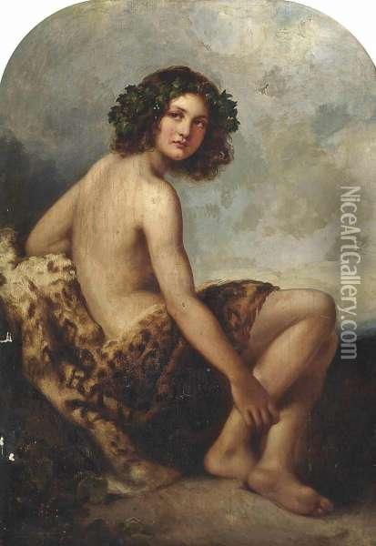 The Young Bacchus Oil Painting - Richard Buckner