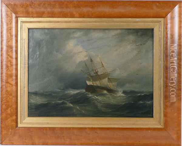 Nocturnal Maritime Scene Oil Painting - James E. Buttersworth