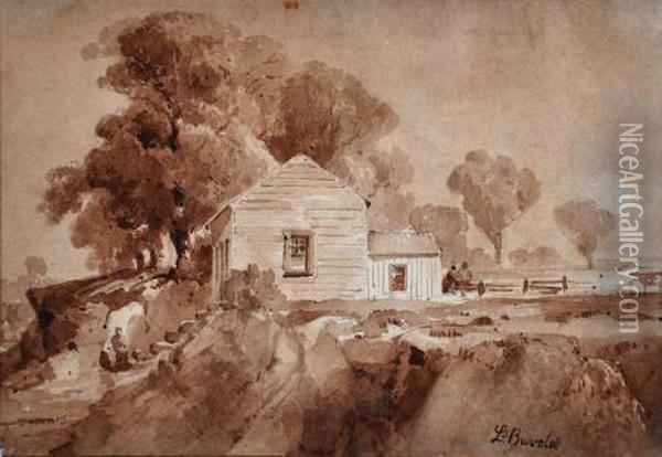The Artistis Home Oil Painting - Abraham Louis Buvelot