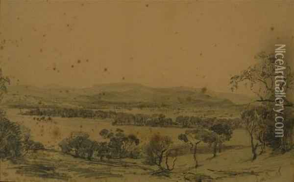 Lilydale Oil Painting - Abraham Louis Buvelot