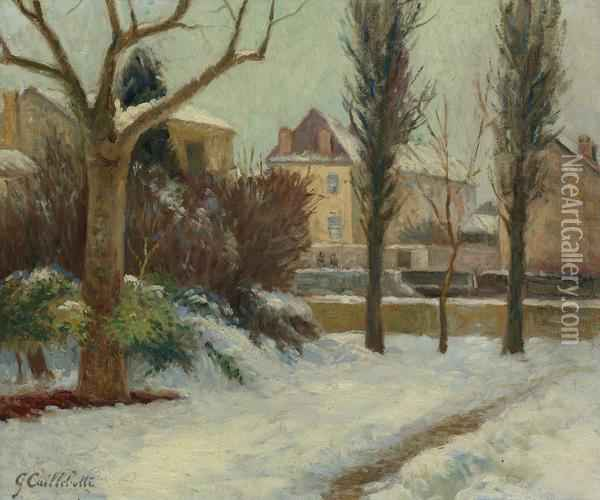 Paysage D'hiver Oil Painting - Gustave Caillebotte