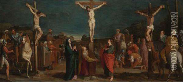 Crucifixion With Thieves Oil Painting - Bartolomeo Carducci