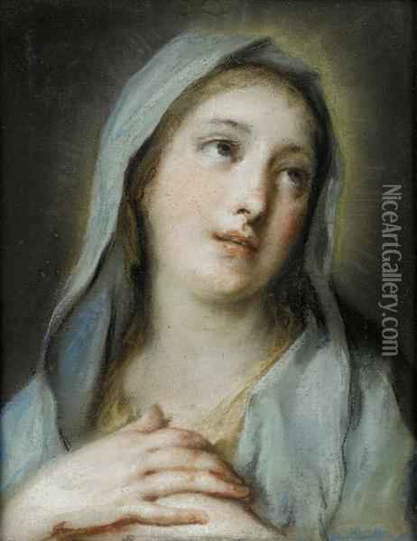 The Madonna Oil Painting - Rosalba Carriera