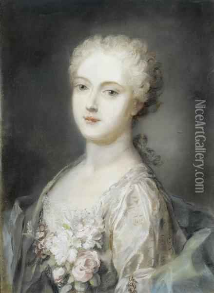 Portrait Of A Lady Oil Painting - Rosalba Carriera