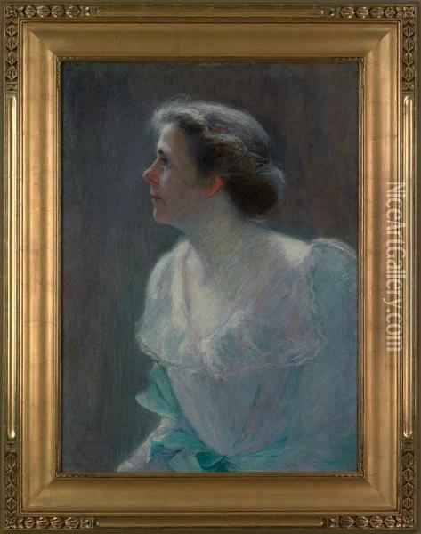 Portrait Of Gertrude Albright Oil Painting - Evelyn Rumsey Cary