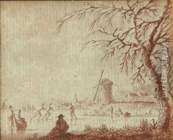 Farmers Harvesting The Hay Oil Painting - Jacob Cats