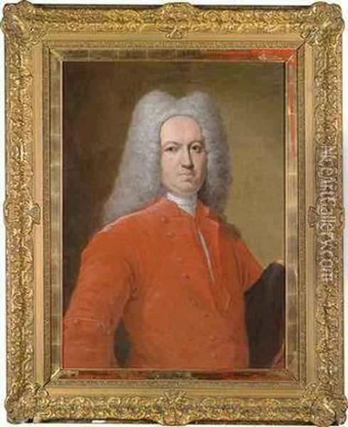 Portrait Of An Elegant Gentleman In A Full-bottomed Wig Oil Painting - Giacomo Ceruti (Il Pitocchetto)
