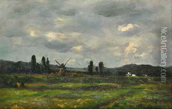 A Landscape In France Oil Painting - Antonin Chittussi