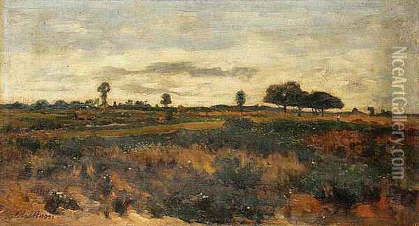 A Landscape Near Velizy Oil Painting - Antonin Chittussi