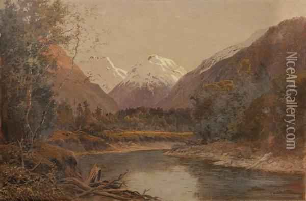 Southern Alps Oil Painting - Ernest William Christmas