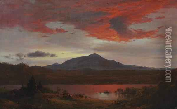 Twilight Oil Painting - Frederic Edwin Church