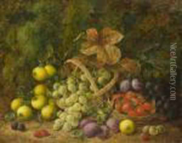 Still Life With Fruit Oil Painting - George Clare