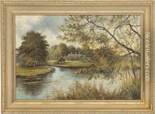 Cottage, Thought To Be At Sandringham Oil Painting - Octavius Thomas Clark