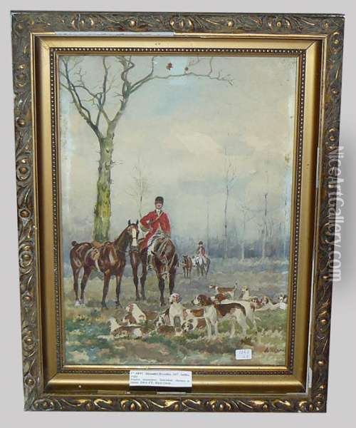 Chasse A Courre Oil Painting - Alexander Clarys