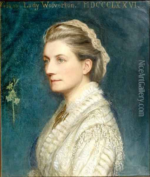 Portrait Of Giana, Lady Wolverton Oil Painting - Edward Clifford