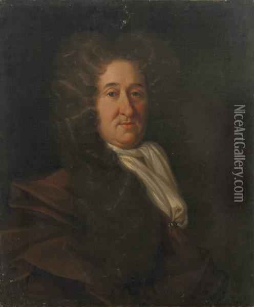 Portrait Of A Gentleman Oil Painting - Johann Closterman