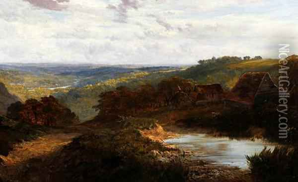 Extensive South Country Landscape Oil Painting - George Vicat Cole