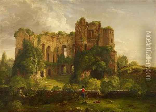 Part Of The Ruins Of Kenilworth Castle Oil Painting - Thomas Cole