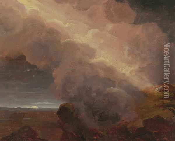 Clouds On The Mountaintop Oil Painting - Thomas Cole