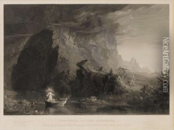 Voyage Of Life Oil Painting - Thomas Cole