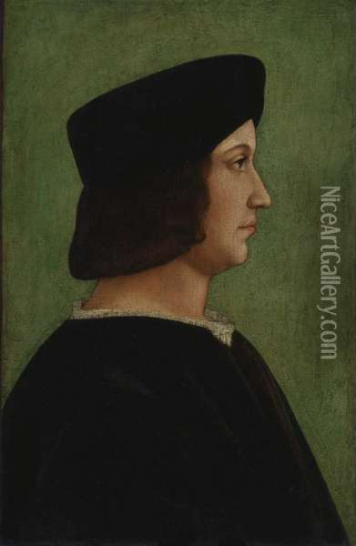 This Lot Is Being Offered For Sale Under A Settlement Agreement Between The Current Possessor Of The Painting And The Heirs Of Jakob And Rosa Oppenheimer. The Settlement Agreement Resolves The Dispute Over Ownership Of This Painting And Full Title Will P Oil Painting - Dei Bernardino Conti