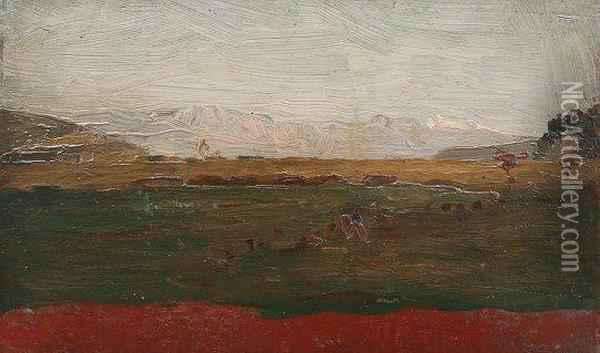 'half Hour After Sunset Oil Painting - John Severinus Conway