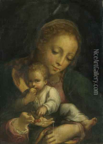 Madonna And Child Oil Painting - Correggio, (Antonio Allegri)