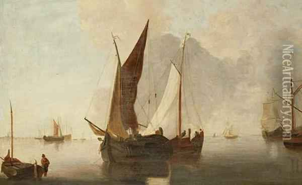 The Passing Boats Oil Painting - John Sell Cotman