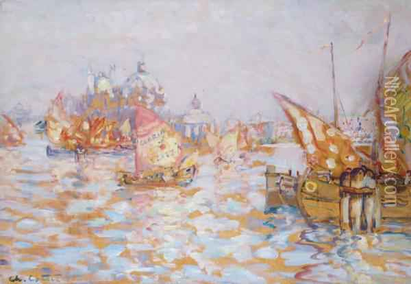 Venise, Le Grand Canal Oil Painting - Charles Cottet