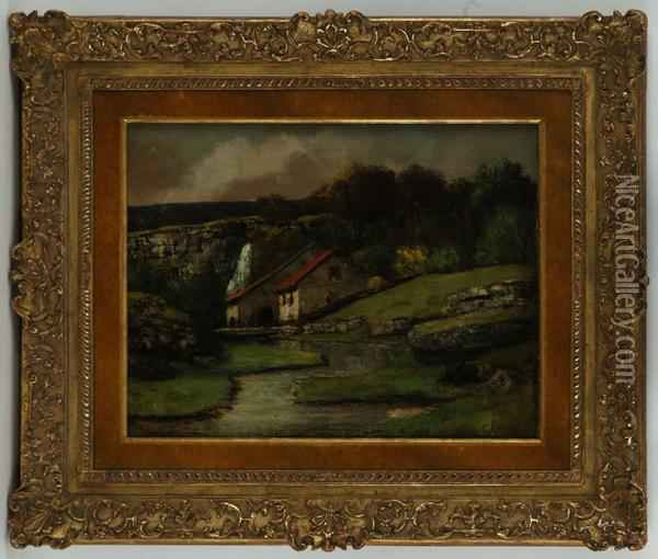 Paysage Jurassien Oil Painting - Gustave Courbet