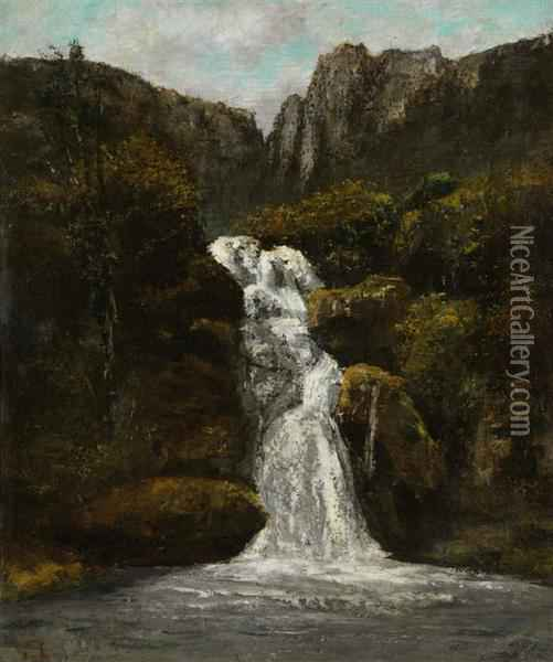 La Cascade Oil Painting - Gustave Courbet