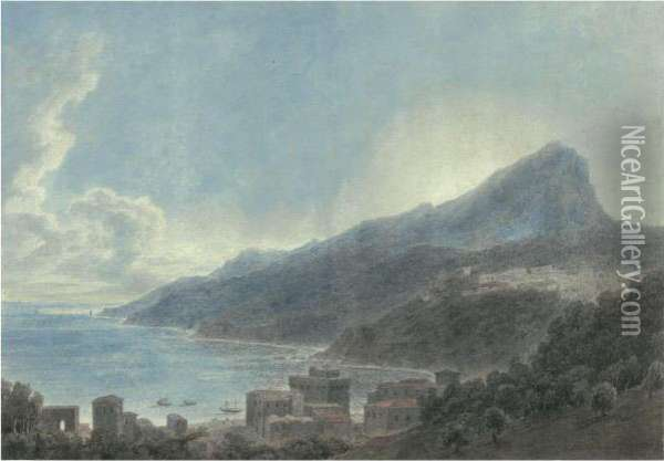 Vietri And Raito Oil Painting - John Robert Cozens