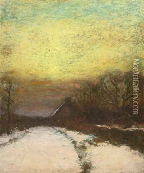 Winter Glow Oil Painting - Bruce Crane