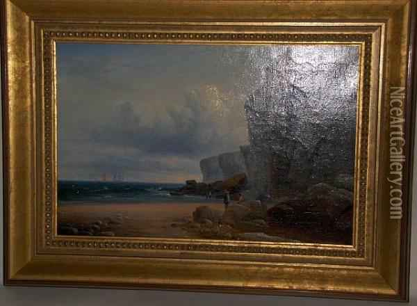 Northumbrian Coastal View Oil Painting - William Crawhall