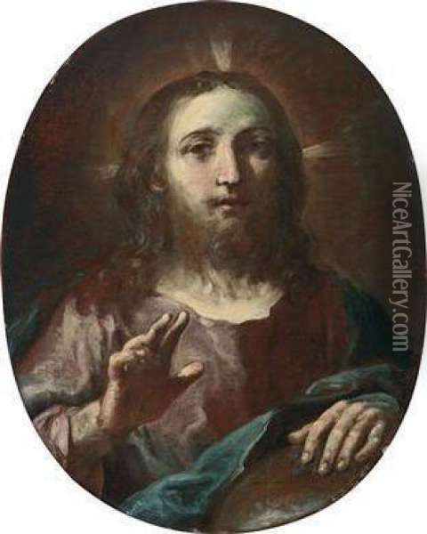 Christ In Benediction Oil Painting - Giuseppe Maria Crespi