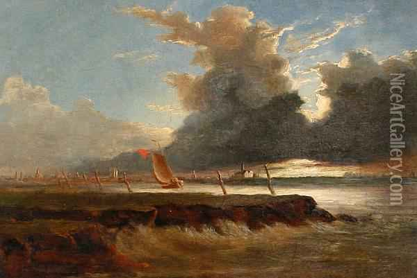 Wootton Point, The Wash Oil Painting - John Berney Crome