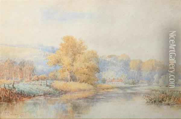 Serenity On The Pond Oil Painting - Jasper Francis Cropsey