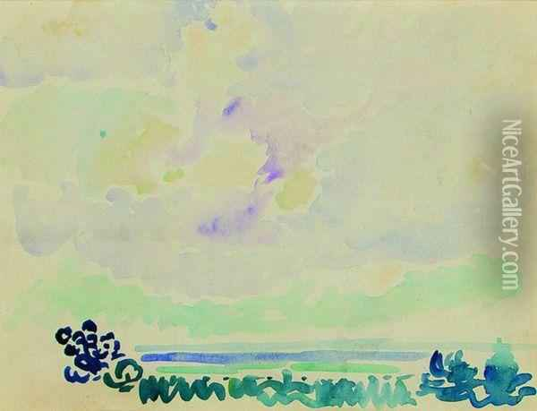 Marine Oil Painting - Henri Edmond Cross