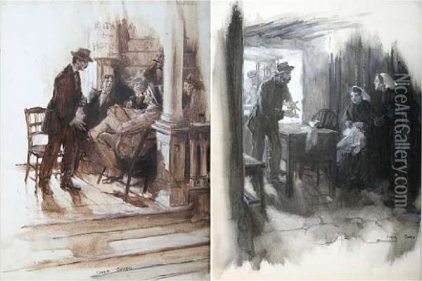 The Secret Of Hatfield House Oil Painting - Cyrus Cuneo