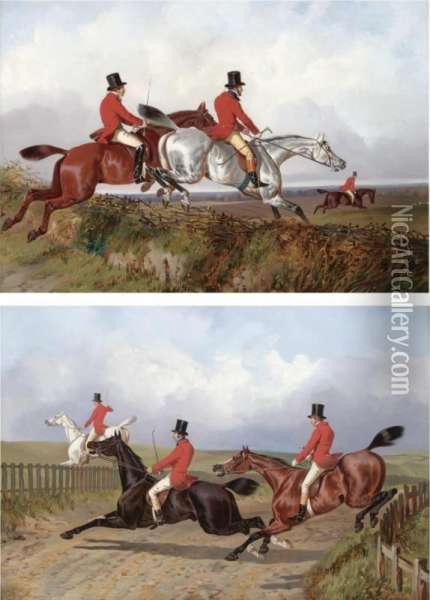 Clearing The Bank; Crossing The Road Oil Painting - John Dalby Of York